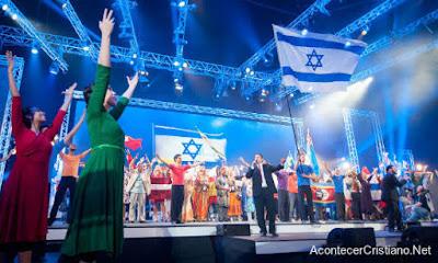 Cristianos celebran la Fiesta de Tabernáculos en Jerusalén