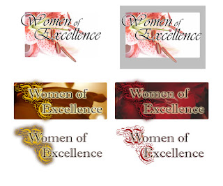 Women of Excellence Floral Logo Design more ideas