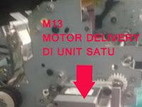 Mengatasi motor delivery (M13) tidak berputar