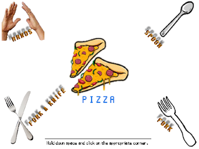The Wonderful 1237 pizza table manners minigame John Kasich how to eat