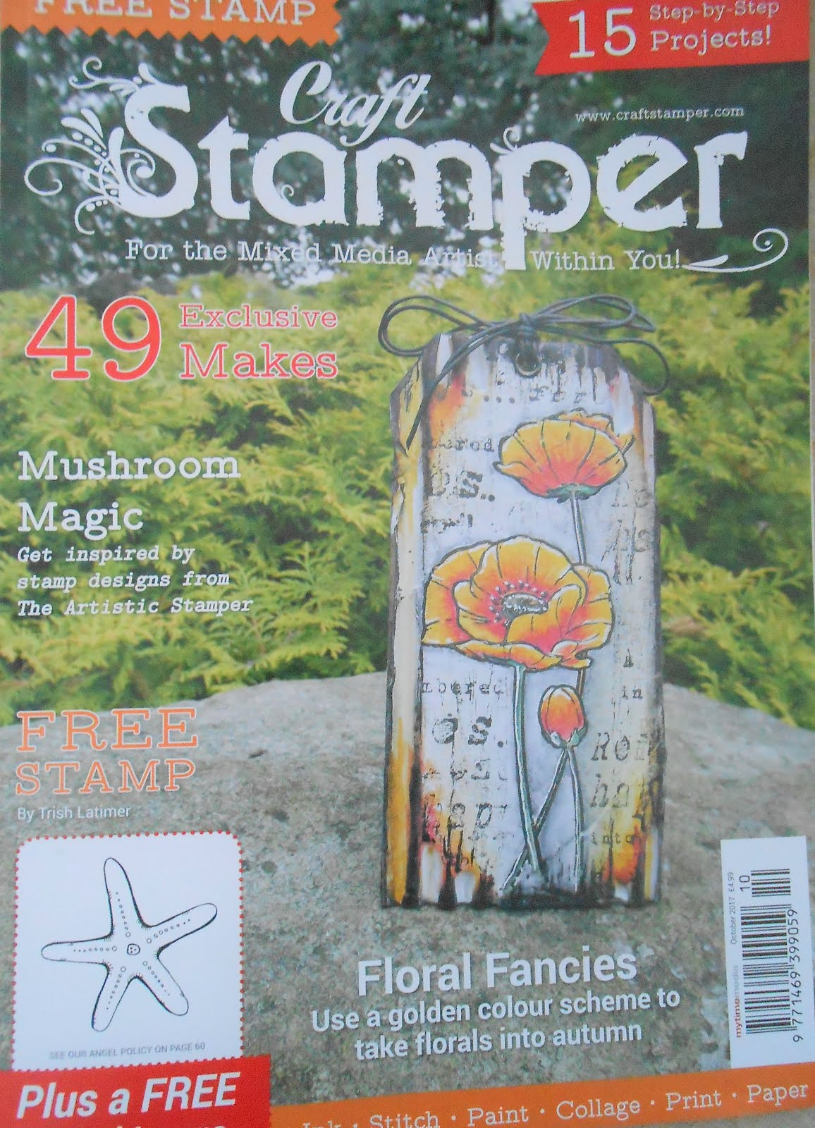 Proud to be in Craft Stamper magazine Oct 2017