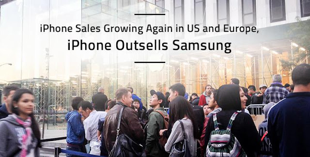iPhone sales growing again in US and Europe