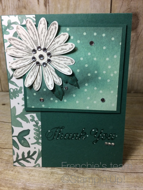 "Stampin""Up! 2017-19 In Colors, Tranquil tide, Delightful Daisy"