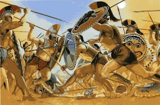 www.fertilmente.com.br - Batalhas Espartanas eram corriqueiras, sua sociedade era moldada para a Guerra