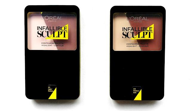 L'Oreal Infallible Sculpt Contouring Palettes Swatched and Reviewed