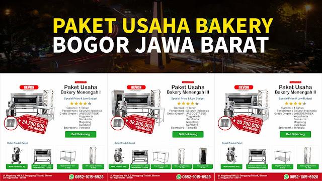Paket Usaha bakery di Bogor Jawa Barat