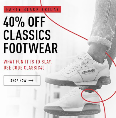 1fb2135c47b Right now at Reebok you can take 40% off their classic footwear collection.  Be sure to use promo code CLASSIC40 at checkout to get your extra discount.