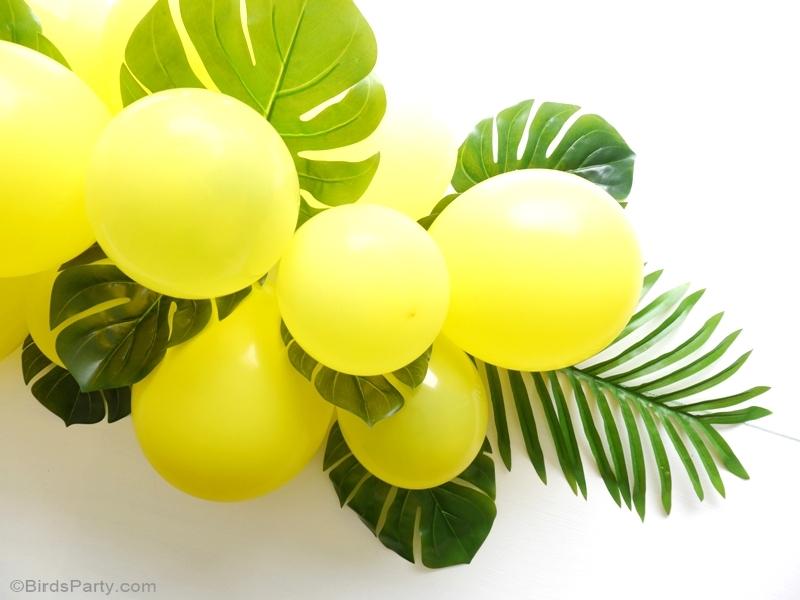 DIY Balloon & Fronds Tropical Party Centerpiece - Party ...