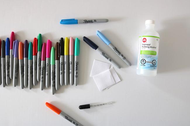 Sharpie® watercolour diy