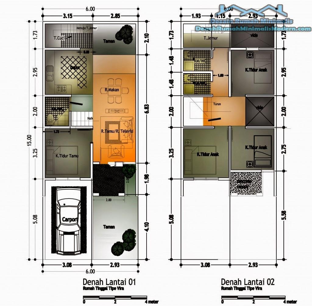 Gambar Desain Rumah Minimalis 2 Kamar Tidur 2 Kamar Mandi