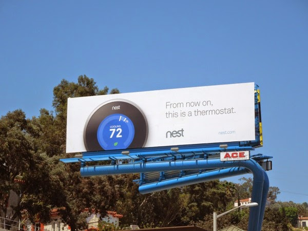 From now on thermostat Nest billboard