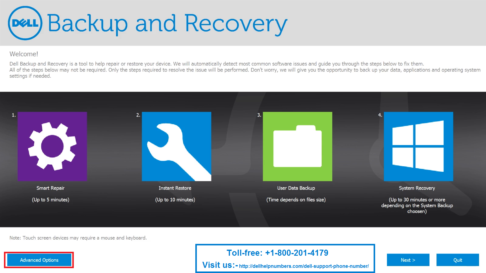HOW DO DELL BACKUP AND RECOVERY DO NOT WORK ON WINDOWS 10