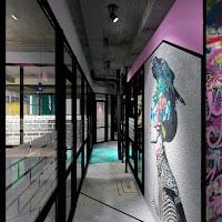 ДИЗАЙН КОВОРКИНГА И КАПСУЛЬНОГО ОТЕЛЯ STREETART Екатеринбург DULISOV Дулисов design COWORKING interior office space Ekaterinburg интерьер проект