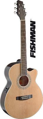 Đàn Guitar Acoustic Stagg SA40MJCFI N