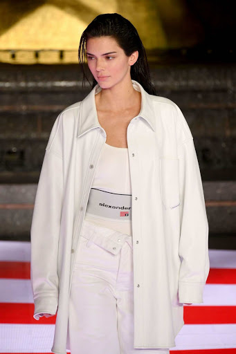 Kendall Jenner walks the runway during the Alexander Wang Collection 1 Fashion Show at Rockefeller Center in New York City