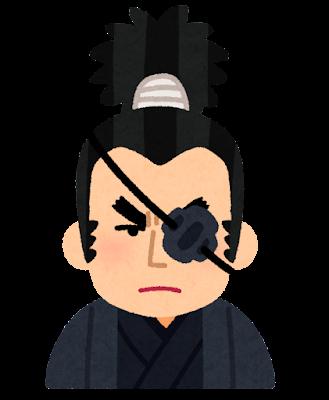 柳生十兵衛の似顔絵イラスト