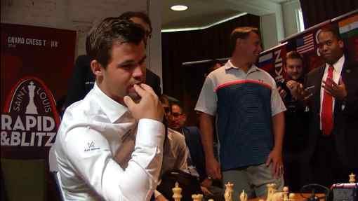 Le champion du monde d'échecs norvégien Magnus Carlsen