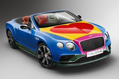 Bentley Continental GT V8 S Convertible Sir Peter Blake Pop Art Car (2016) Front Side
