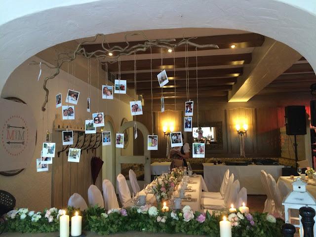 Fotogirlande, Hochzeitsmotto aus M wird M, Pastell und Vintage im Riessersee Hotel Garmisch-Partenkirchen, Bayern
