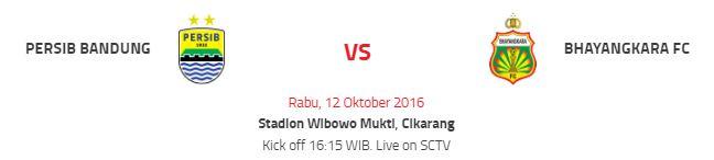 Prediksi Persib Bandung vs Bhayangkara Surabaya FC 12 Oktober 2016