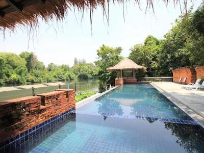 7.โรงแรมกาญจ์ปุระ ติดแม่น้ำ มีสระว่ายน้ำ คลิ๊กดูภาพห้องพัก