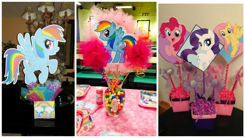 BLOG DE FIESTAS: Ideas de centros de mesa para cumpleaños- little pony