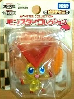 Victini figure clear version Takara Tomy Monster Collection 2011 movie promo