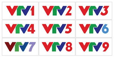 Bộ Logo vector 8 kênh truyền hình của VTV