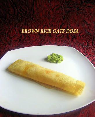 Brown rice dosa
