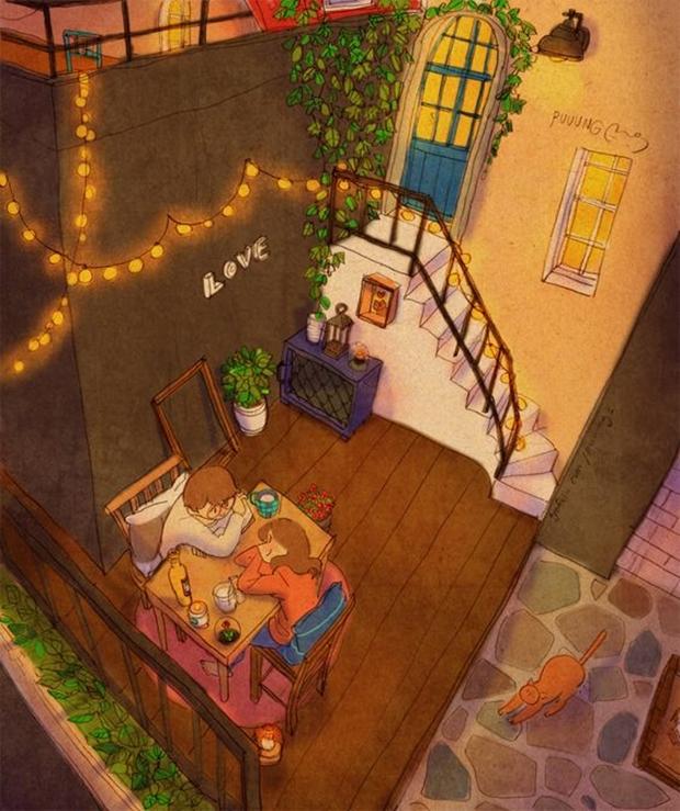 Ilustradora coreana mostra que o amor está nas pequenas ações cotidianas