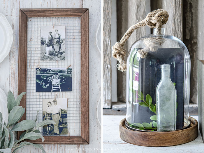 Farmhouse DIY Frame and Cloche