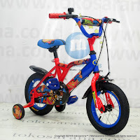 Sepeda Anak Wimcycle Superman 12 Inci Lisensi