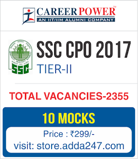 SSC CPO Tier II 2017 Online Test Series