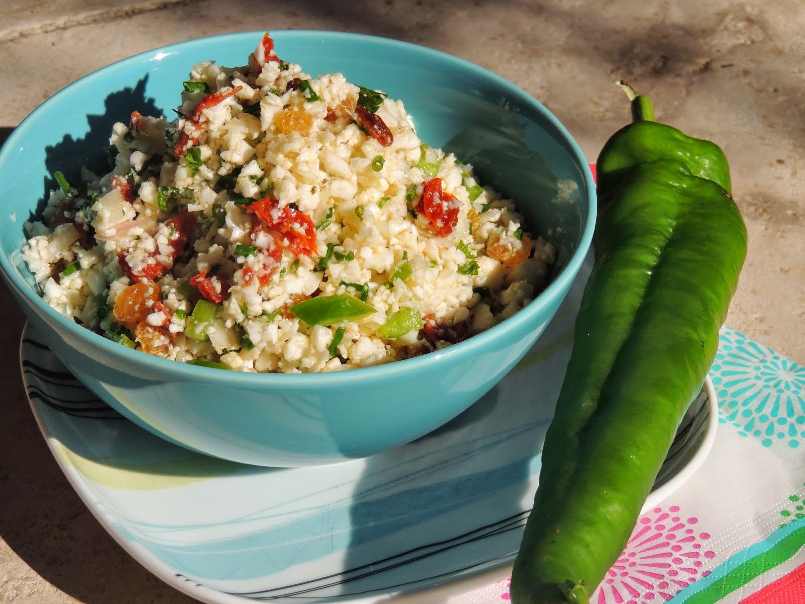 midi cuisine taboul de choux fleur au poivron salade recette l g re. Black Bedroom Furniture Sets. Home Design Ideas
