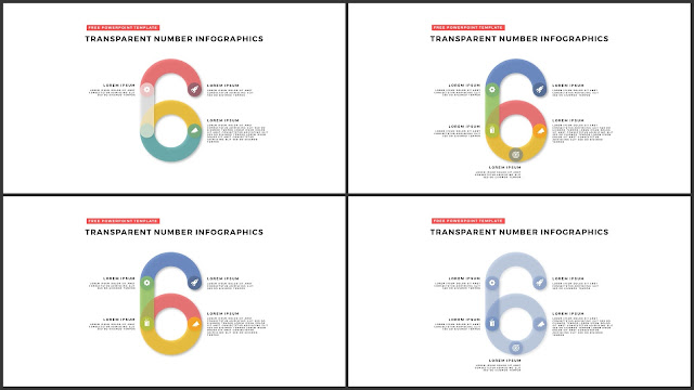 Infographic Transparent Design Elements for PowerPoint Templates in white background using Number 6