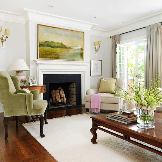 Celebrity Homes Interior: Fireplace Styles And Design Ideas