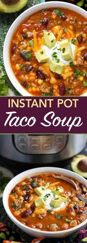 Instant Pot Taco Soup Recipe