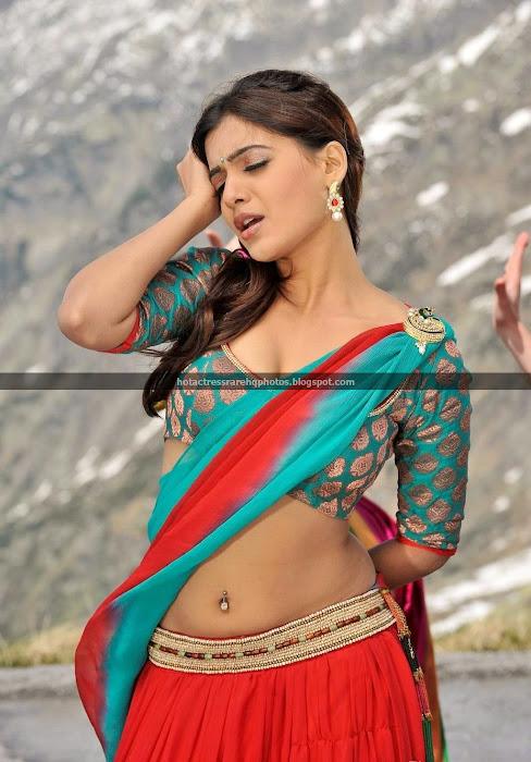 actress samantha ruth navel saree indian south rare hq deep hottest telugu prabhu huge exposure unseen piercing half