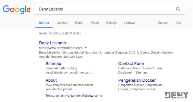 Pengertian Google Sitelinks beserta Fungsinya