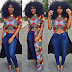Simple Creative and Beautiful 2017/2018 Ankara Tops and Jeans