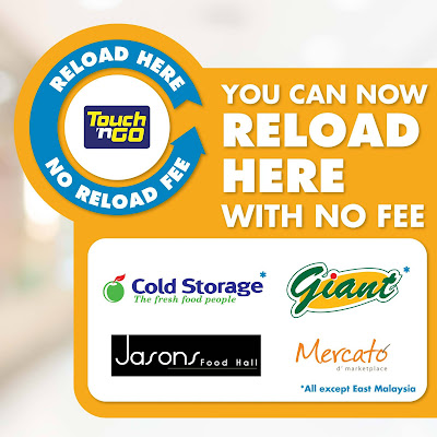 Touch 'n Go Malaysia No Reload Fee