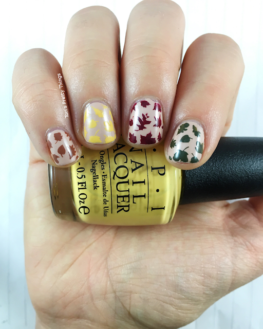 Tori's Pretty Things// OPI Never a Dulles Moment Fall Leaves Nail Art