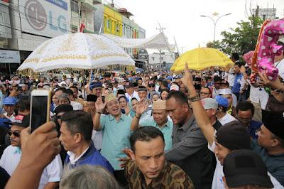 Ribuan Masyarakat Lampung Menyambut Antusias Pendaftaran Ridho Berbakti Jilid II ke KPUD Prov Lampung
