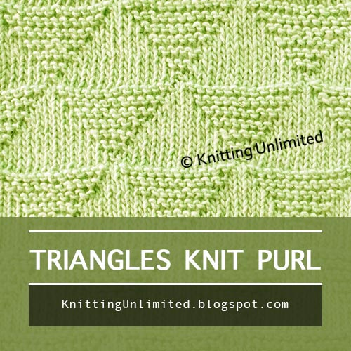 Moss Diamond and Lozenge Stitch Pattern - Only knit & purl combinations.