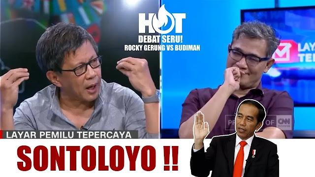 Debat Panas Rocky Gerung vs Budiman Sudjatmiko soal Jokowi Sebut 'Sontoloyo', Nih Videonya