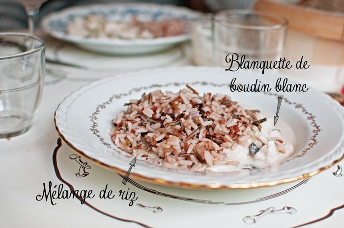 blanquette de boudin blanc et trio de riz au Restaurant le clou de girofle à Caen