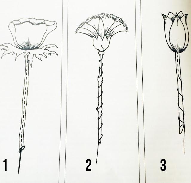 methods of wiring flowers
