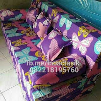 Sofa bed Inoac motif kupu-kupu ungu inoactasik