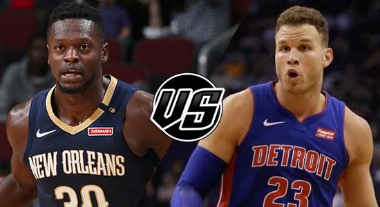 Live Streaming List: New Orleans Pelicans vs Detroit Pistons 2018-2019 NBA Season