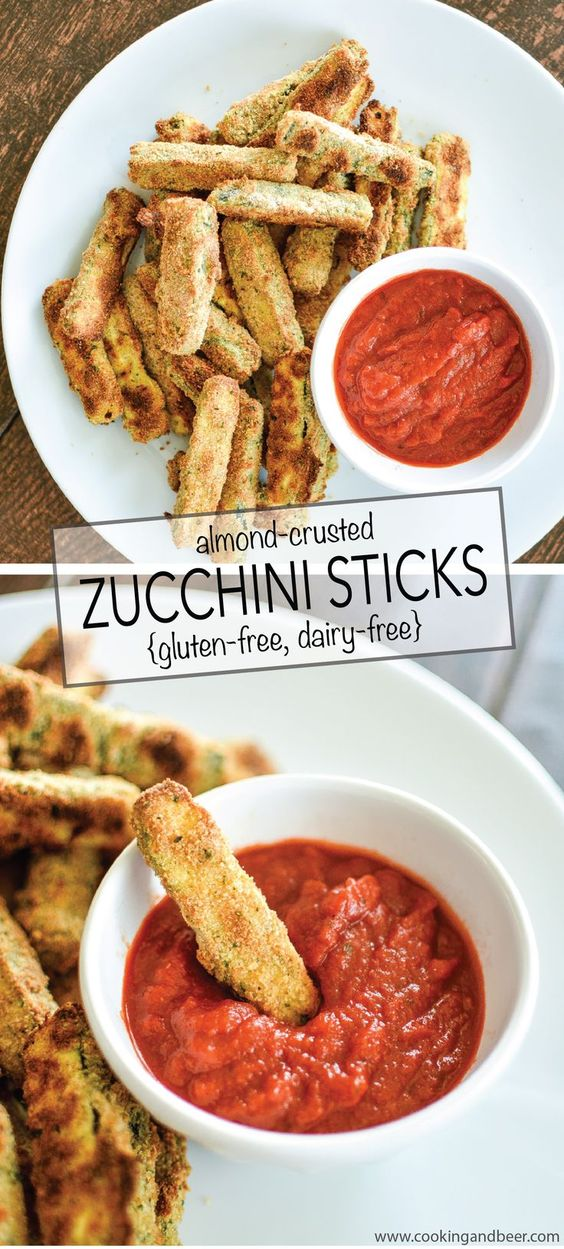 Almond-Crusted Zucchini Sticks (gluten-free, dairy-free)